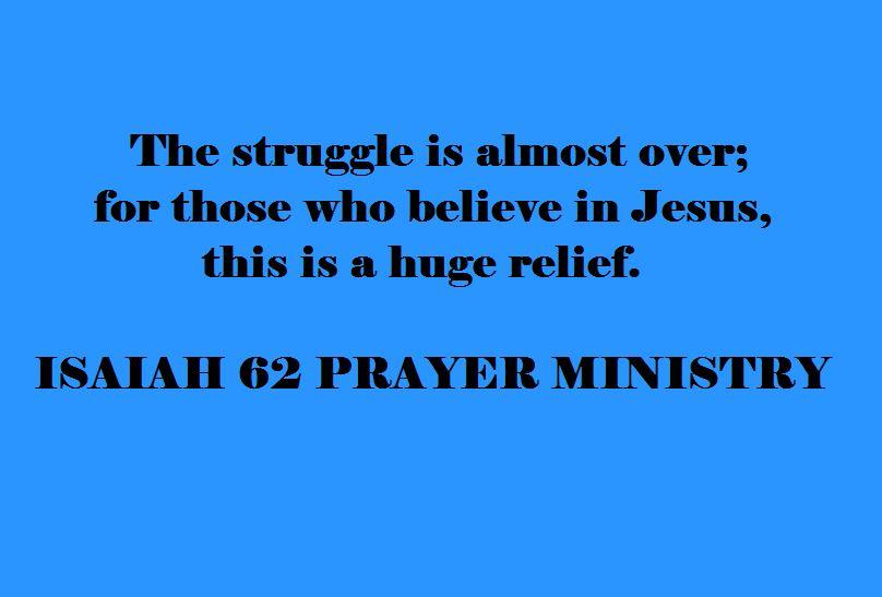 struggle almost over